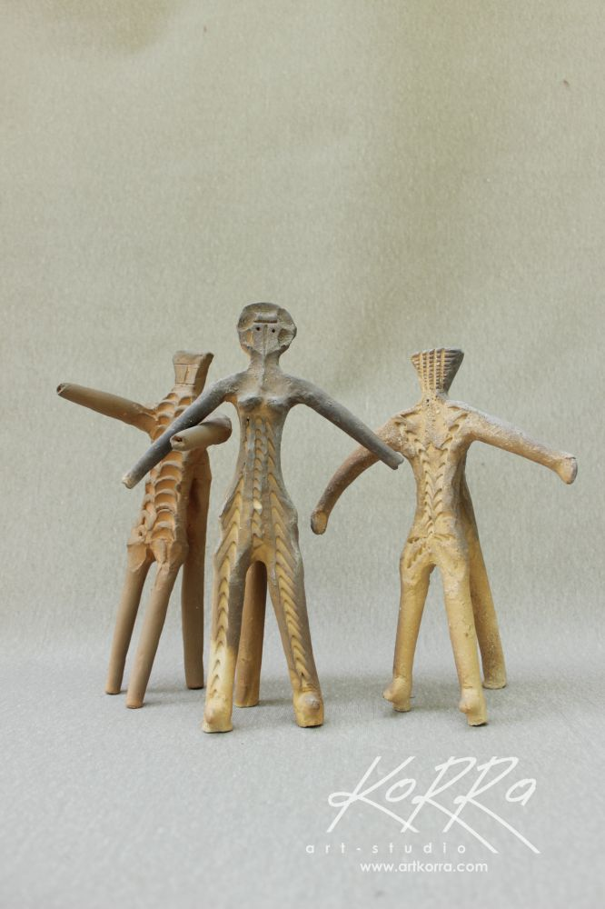 Radko Sergey, Trio, 2017, burnt clay, 27x32x15