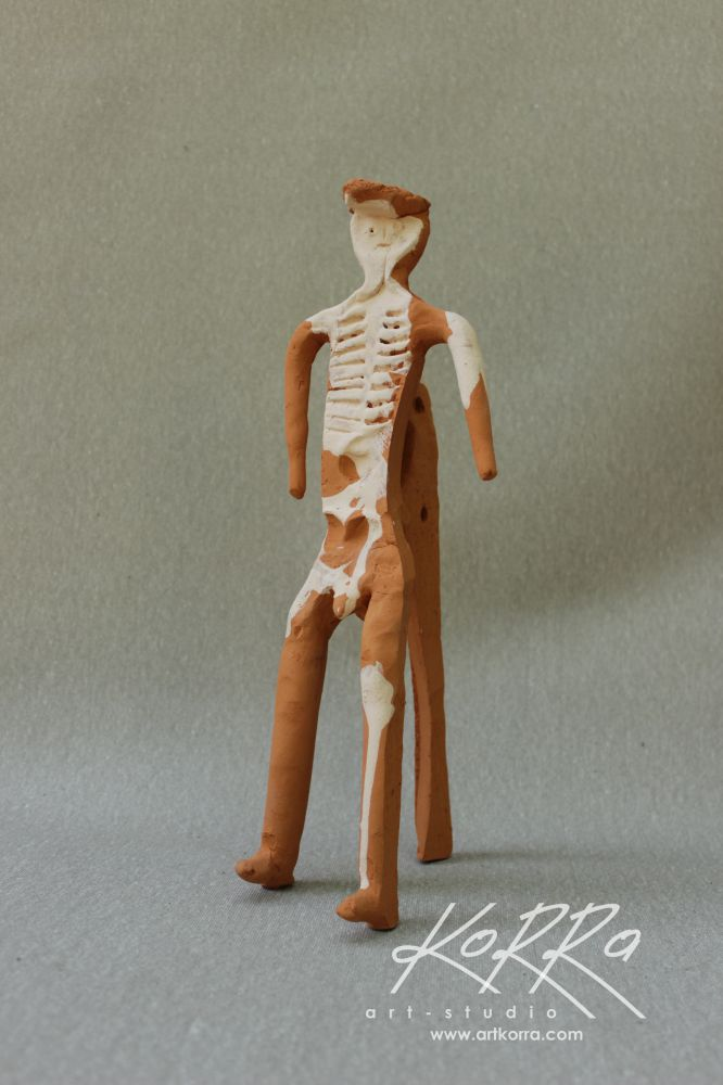 Radko Sergij, Figure 11, clay, modeling, irrigation, 32x11x13
