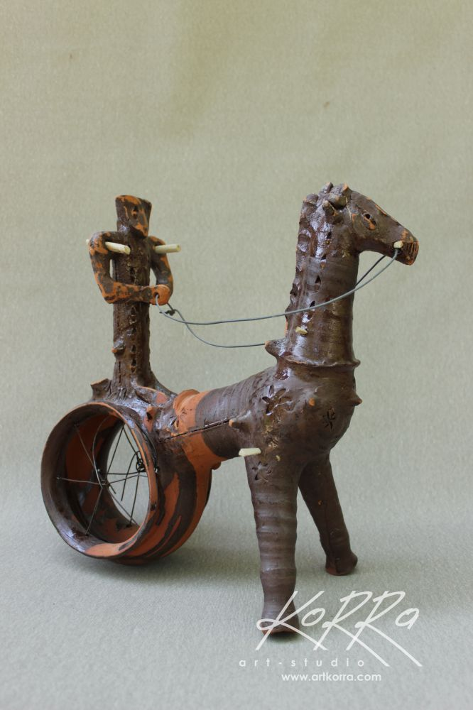 Radko Sergey, Chariot 3, 2017, burnt clay, potter's wheel, watering, 33х33х16