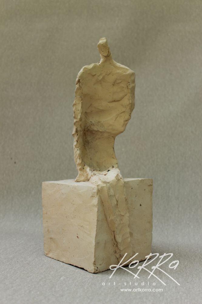 Radko Sergey, Sitting 2, 2015, burnt clay, 31x15x15