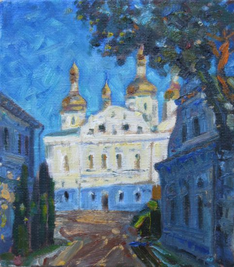 Korzh Lesya, Kiev-Pechersk Lavra. Cathedral of the Assumption, 2013, oil on canvas, 25 x 22