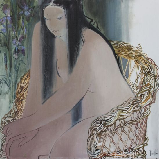 Korzh-Radko Lyudmila, Nude in the chair, 2016, oil on canvas, 70x70