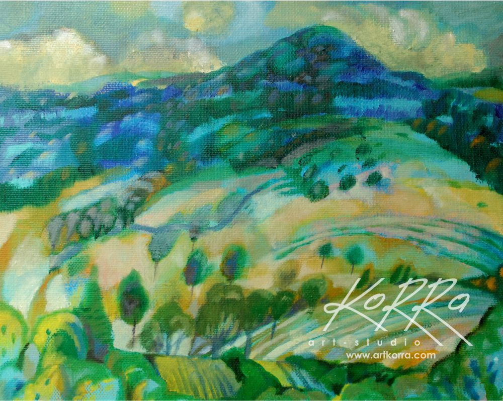 Katerina Radko, Blue Mountain, 2010, oil on canvas, 40x50