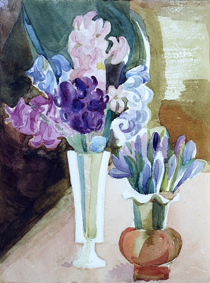 Tregubova Natalia, Spring Flowers, 1980, watercolor, paper, 32 x 24