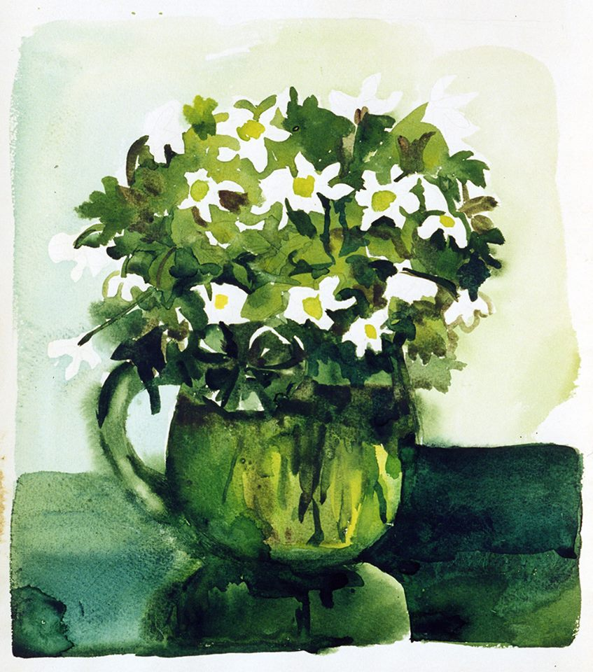 Tregubova Natalia, Flowers in a Glass, 1979, watercolor, paper, 41 x 36.5